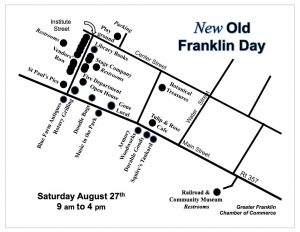 map of old franklin day events 2016
