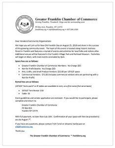 New Old Franklin Day Vendor Application - Franklin NY